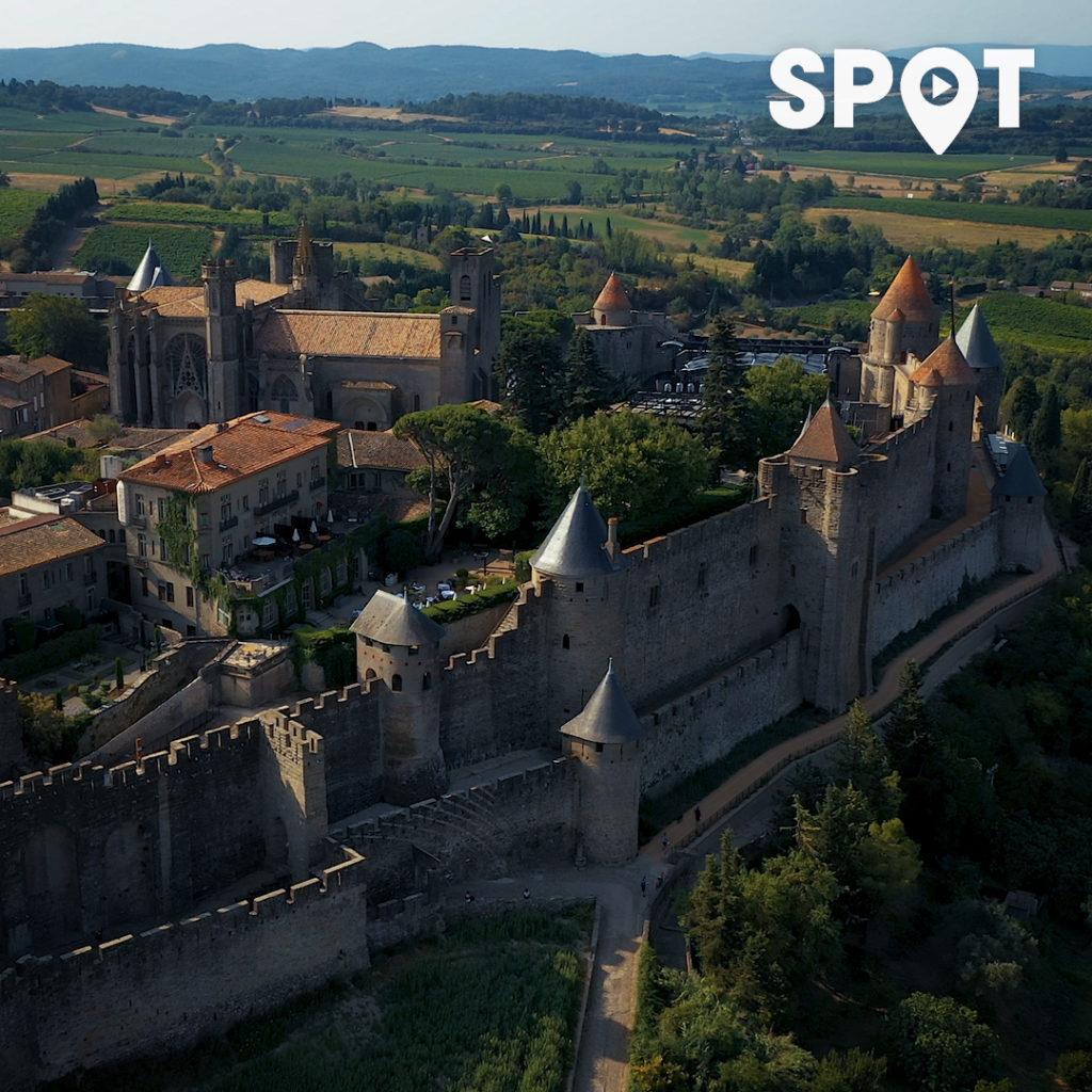 Cité de Carcassonne vu du ciel