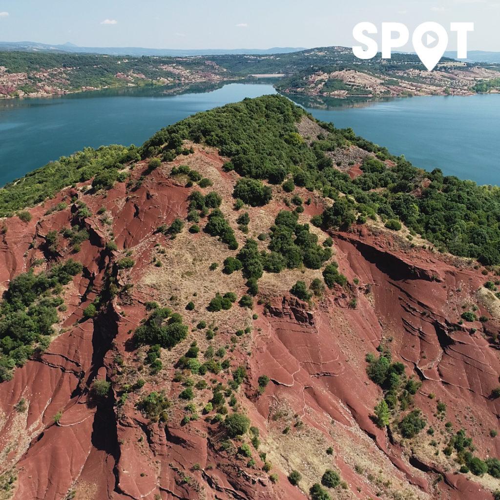 Le Lac du Salagou vu en drone